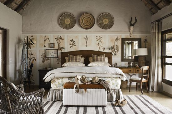 A luxurious bed found in Singita Castleton Camp in Kruger National Park