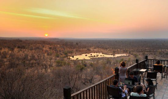 View from Victoria Falls Safari Lodge