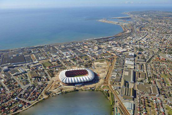 Nelson Mandela Stadium in Port Elizabeth, Südafrika