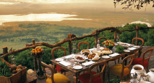 View from Ngorongoro Crater Lodge