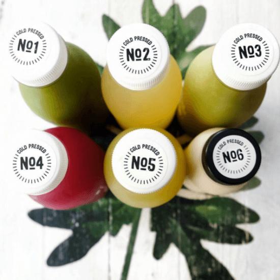 Sucos de diferentes sabores de Orchard On Long