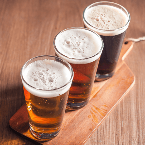 Craft beers at the Nottingham Road Brewery in South Africa