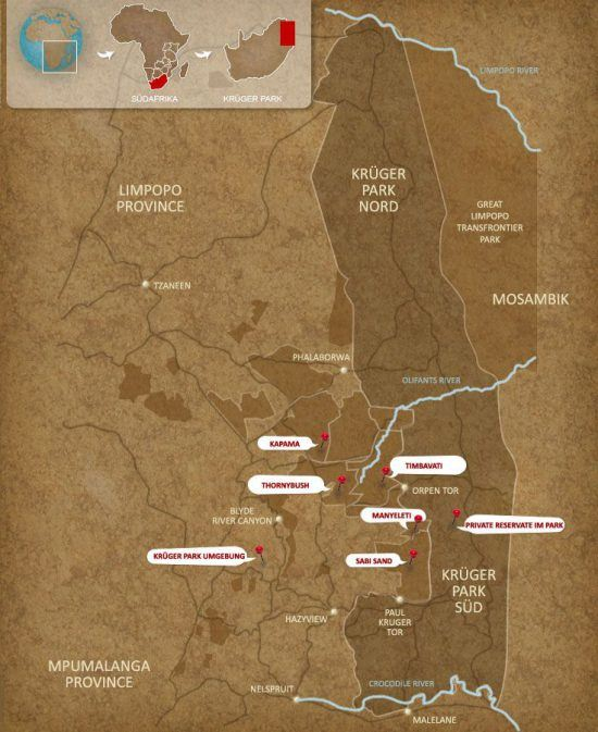 greater kruger area map
