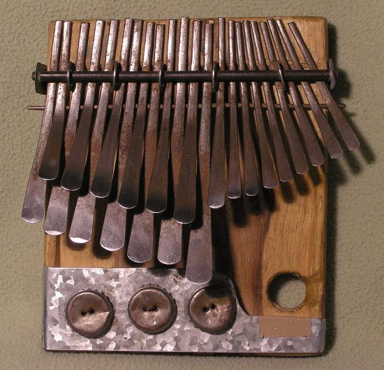 Mbira instrument used in Zimbabwe