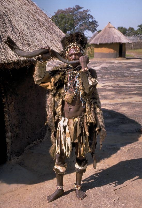 Shona witch doctor in Zimbabwe