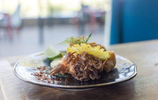 Meeresfrüchte stilvoll angerichtet - Fine Dining in der Silvan Safari Lodge