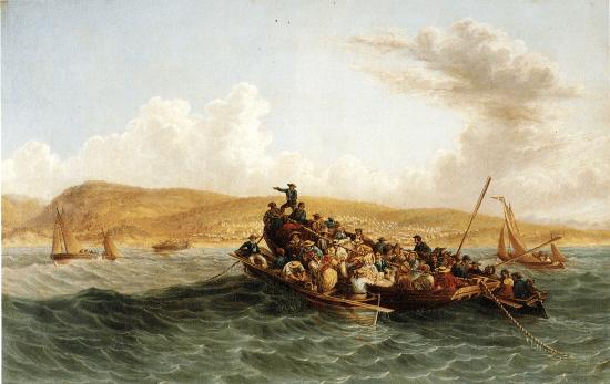 Gemälde der Siedler von 1820 bei ihrer Ankuft in der Algoa Bay - Bester Reiseführer Südafrika