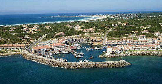 Der Hafen von St. Francis von oben