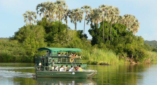 A boat cruise down the Zambezi River