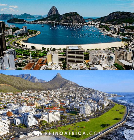Semelhanças entre Brasil e África do Sul — Cape Town e Rio de Janeiro