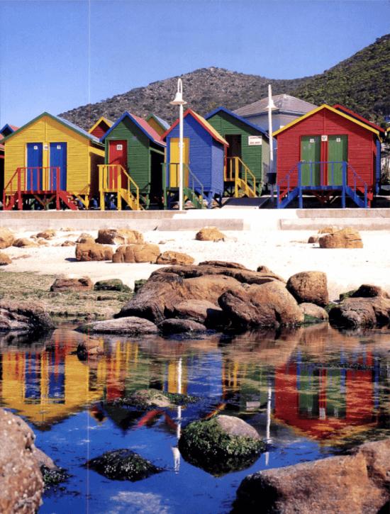 Casas coloridas em Muizenberg, Cape Town