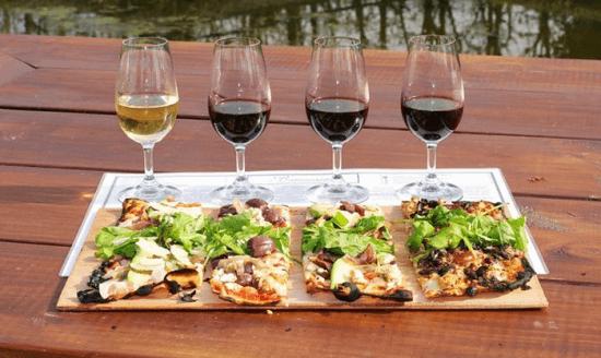 pizza wine tasting