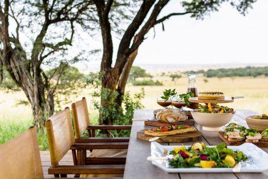Refeição no Singita Serengeti House