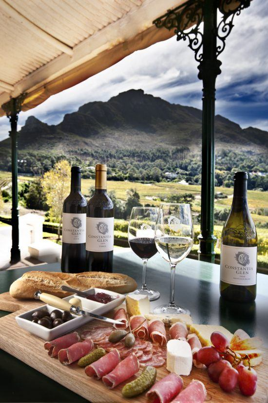 Food and wine pairing at Constantia Glen