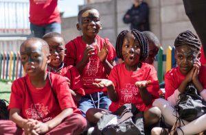 Enfants de Khumbulani lors de la journée mondiale contre le SIDA