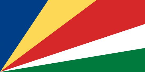 Die bunte Flagge der Seychellen
