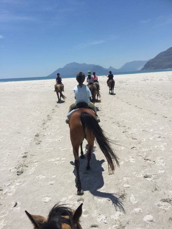 Horse riding on Noodhoek beach in Cape Town