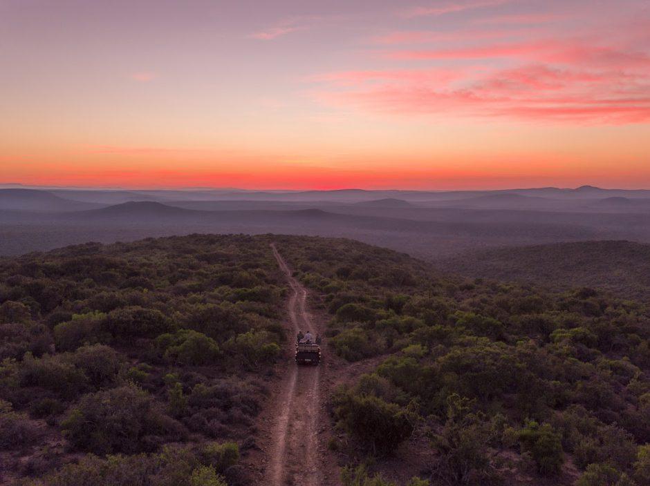Safari sunset at Kwandwe