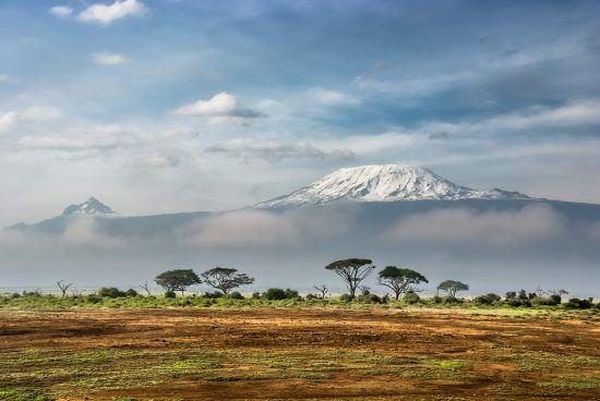 Snow-covered Kilimanjaro in East Africa