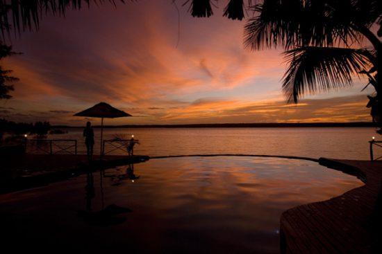 Sonnenunterhang Inhambane Küste