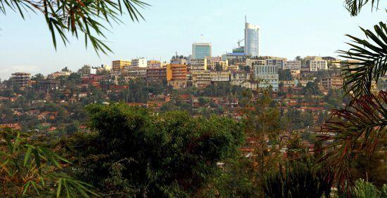 Die Skyline von Kigali in Ruanda