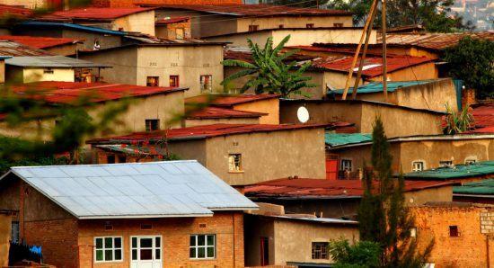 Wohnquartier in Kigali, der Hauptstadt von Kigali