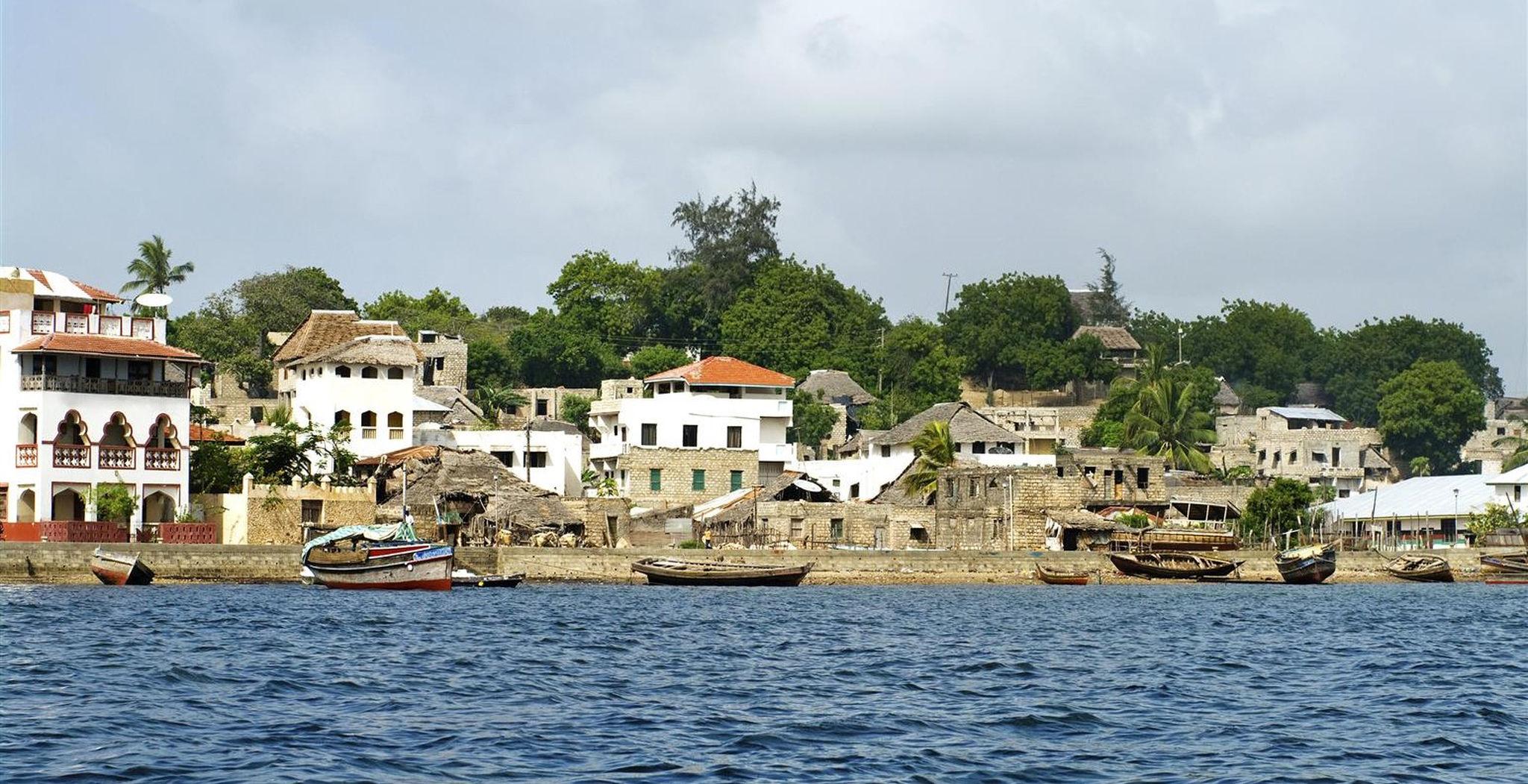 Ciudad de Lamu en la isla de Lamu en Kenia