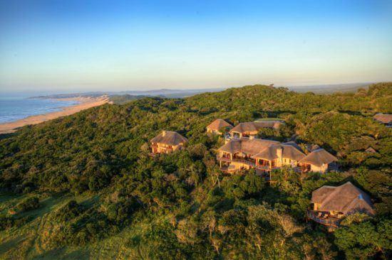 Das Oceana Beach and Wildlife Reserve zwischen Wald und Strand von oben - eine besondere Unterkunft an der Garden Route