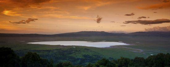 Sonnenuntergang über dem Ngorongoro Krater