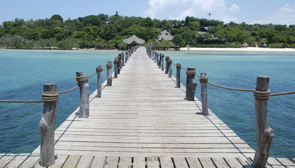 Wooden jetty on Pemba Island