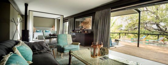 Krüger-Nationalpark-Safari mit Stil: Die Suite Blue Guarri der Silvan Safari Lodge im Sabi Sand Game Reserve