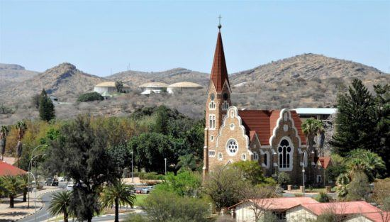 Vistas de Windhoek, capital de Namibia