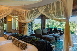 Suite avec terrasse au Tintswalo Manor House Safari Lodge