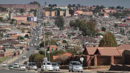 A view of Alexandra informal settlement in Johannesburg