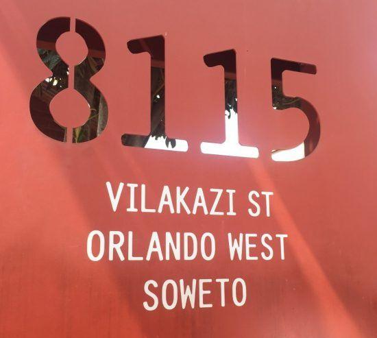 Haustafel Museum Nelson Mandela in Soweto