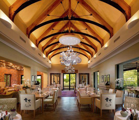 Restaurante Pierneef á La Motte nas Vinhas do Cabo, África do Sul
