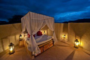 Star bed vu de nuit au Ol Donyo Camp