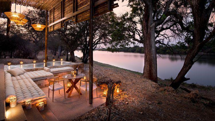 Matetsi River Lodge, lodge haut de gamme à quelques pas des Chutes Victoria au Zimbabwe.