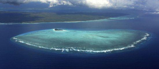 Die Insel Pemba aus der Vogelperspektive