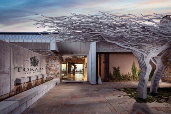 Incríveis esculturas de árvores instaladas na entrada de Tokara, nas Vinhas do Cabo