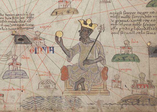 Kunstwerk von Abraham Cresques zeigt Mansa Musa