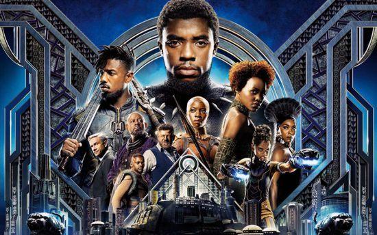 """Parte do pôster oficial de """"Black Panther"""""""