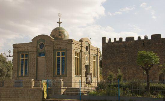 Außenansicht der Chapel of the Tablet in Aksum