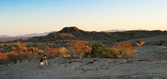 Safari bush walk at Erongo Wilderness Lodge