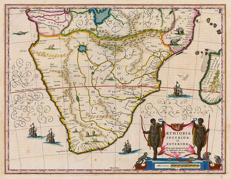 Eine antike Karte des Munhumutapa-Königreichs