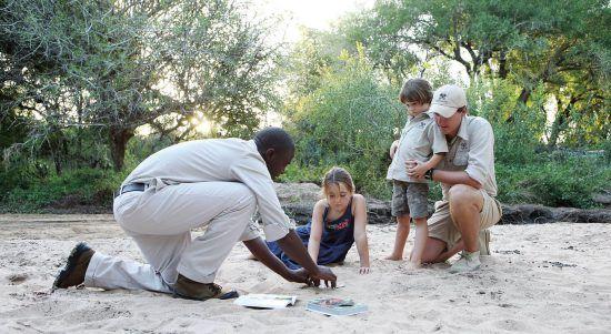 Kinder und Guides von Londolozi erkunden den Busch