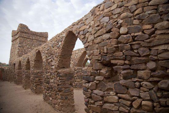 Die Ruinen von Ouadane, Teil des Königreichs Ghanas