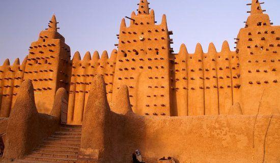 Eine antike Moschee in Timbuktu - einst Teil eines bedeutenden afrikanischen Königreichs