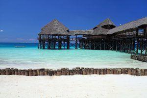 Plage paradisiaque de Zanzibar, Tanzanie.