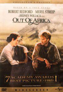 Portada de Maemorias de África, con Meryl Streep y Robert Redford